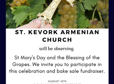 St. Mary's day, Blessing of the Grapes and Bake Sale