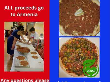 Armenian Pizza (Lahmajun) Fundraiser