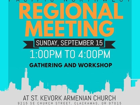 Youth Organization Regional Meeting September 15