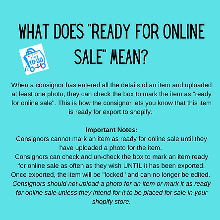 What does _Ready For Online Sale_ mean_