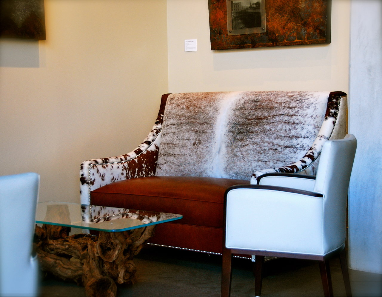 Custom-Built Cow Hide Sofas