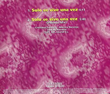 1995SoloseviveunavezMaxiCDcontraportada.