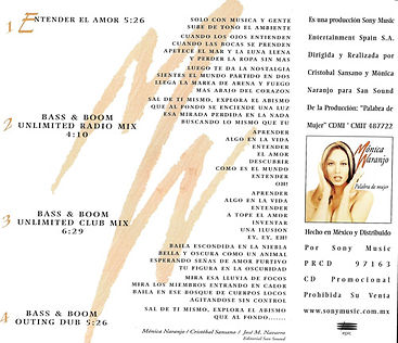 1997EntenderelamorMexicoPromoCDcontrapor