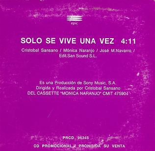 1994SoloseviveunavezMexicoPromoCDcontrap