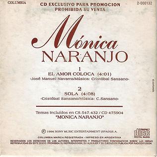 1994ElamorcolocaSolaArgentinaPromoCDcont