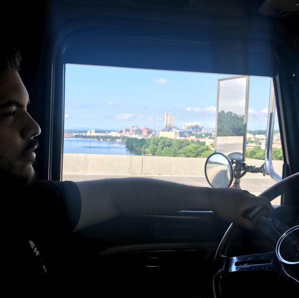 truck driver in truck