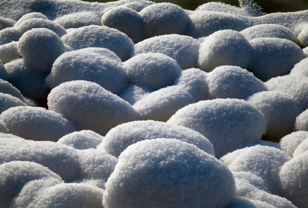 Decorative Stone covered in Snow