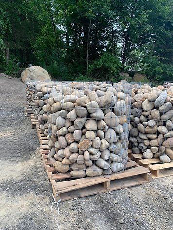 palletized river rock