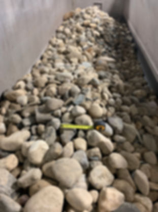 river rock in trailer