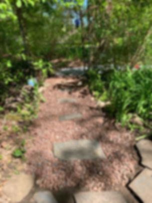 brown stone walkway