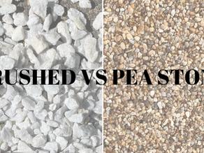 "3/8"" Stone: Crushed Vs. Pea Stone"