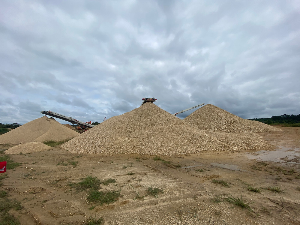 Sand for Building Materials in Quarry