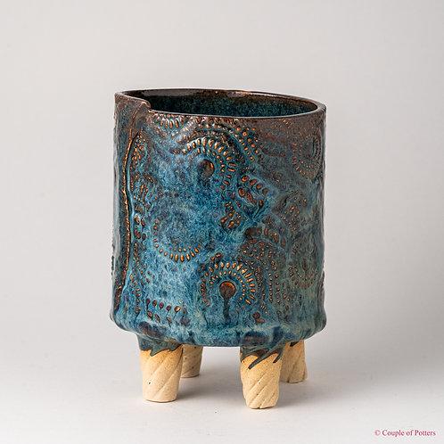 Handbuilt Textured Vase / Planter