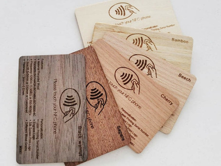 Wooden Business Cards from our Luxury Card Range, from Storm media, Johannesburg