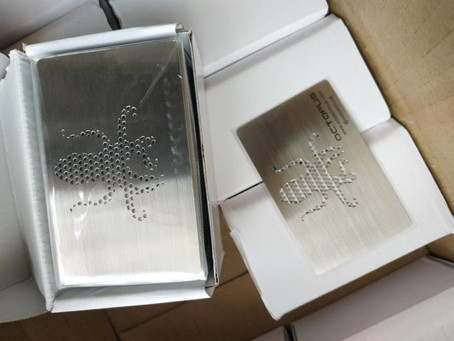Stainless Steel Metal Business Cards from our Luxury Card Range, Storm media, Johannesburg, SA