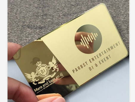 Gold Metal Business Cards from our Luxury Card Range, from Storm media in Johannesburg, South Africa