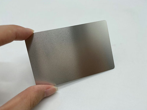 Metal Cards - Silver Metal Business Cards (Engraved)