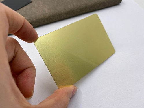 Metal Cards - Gold Metal Business Cards (Engraved)