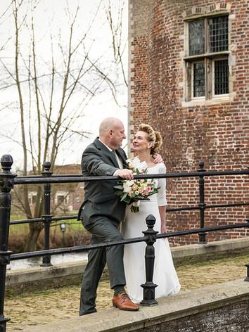 Bruidsfotografie bij Kasteel Dussen