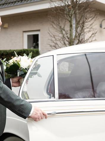 Trouwfoto bruidegom in Eethen