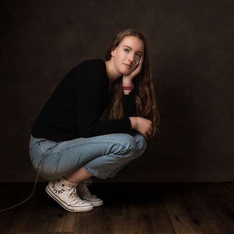 Portretfotograaf in fotostudio Arkel
