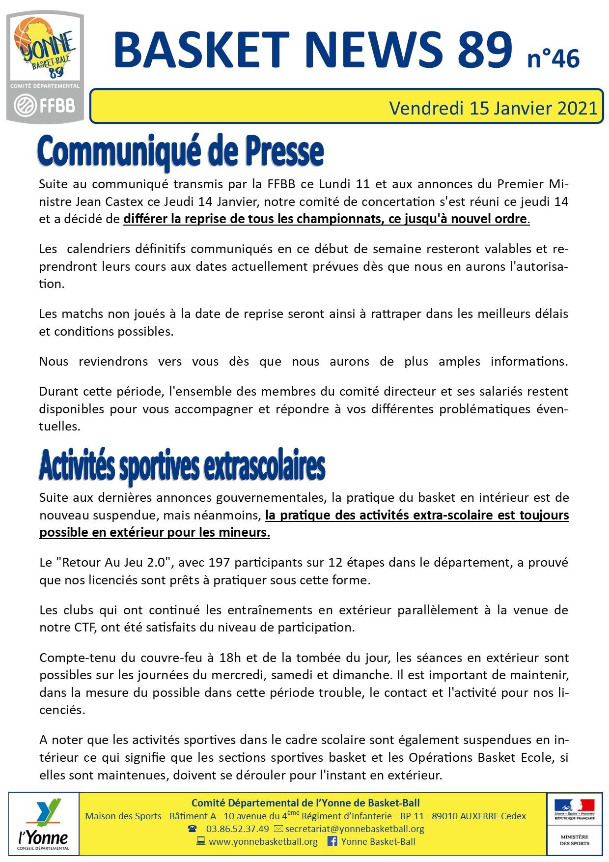 Newsletter n°46 janv 2021 1