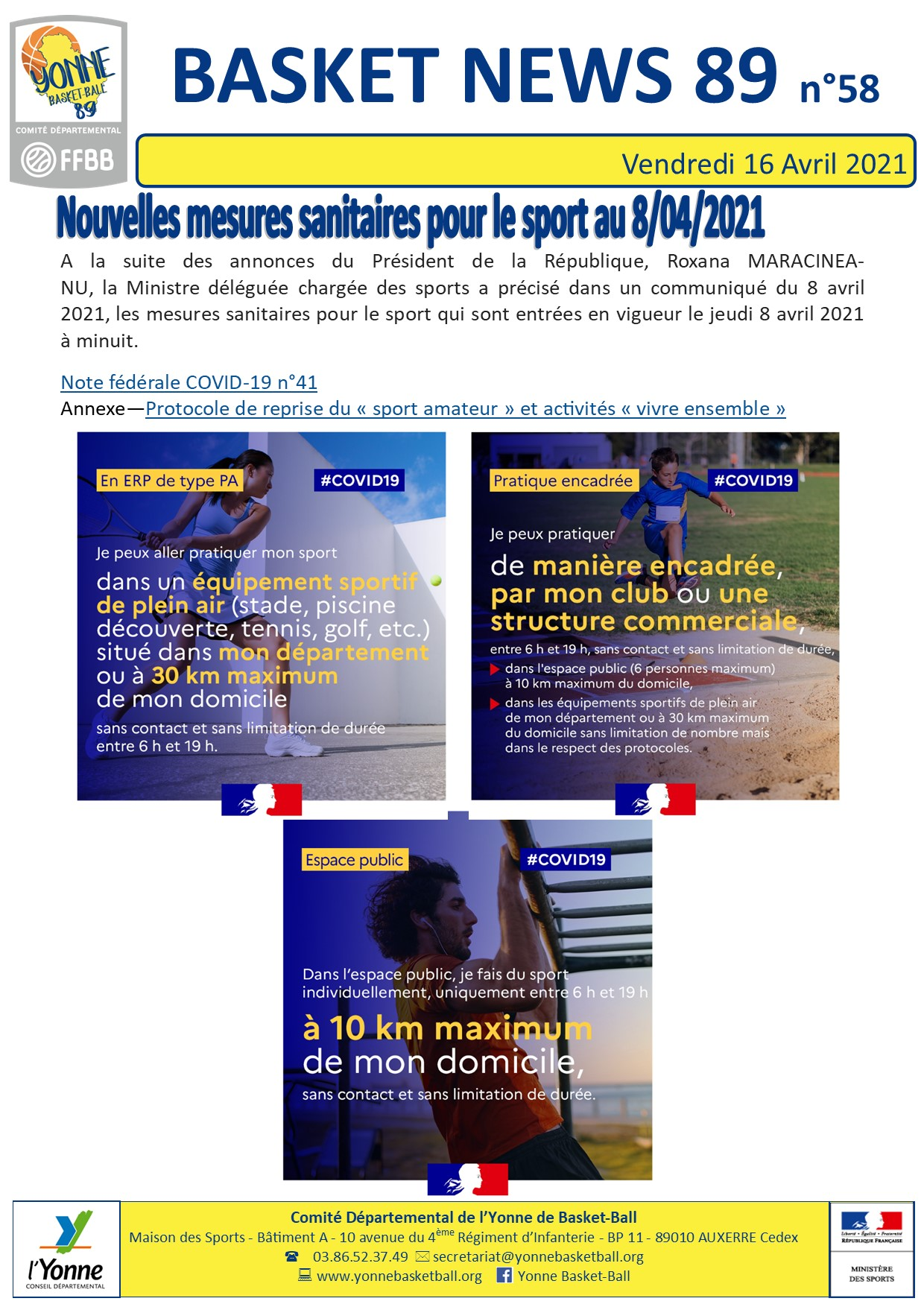 Newsletter n°58 avril 2021 1