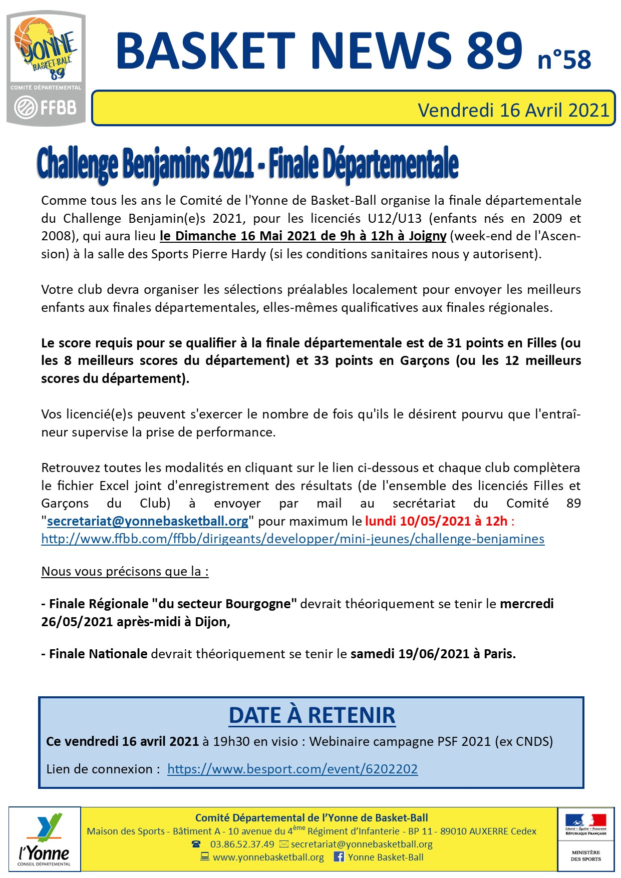 Newsletter n°58 avril 2021 5
