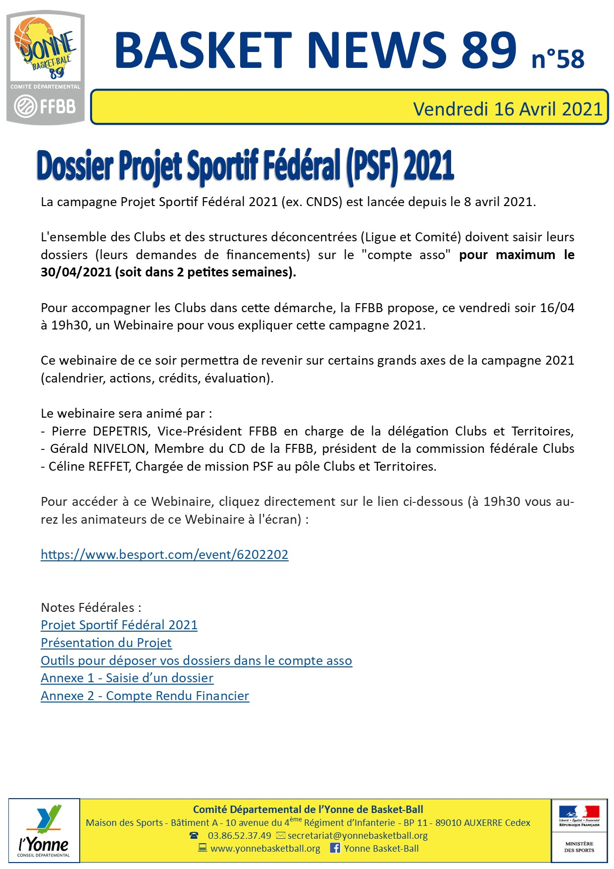Newsletter n°58 avril 2021 2
