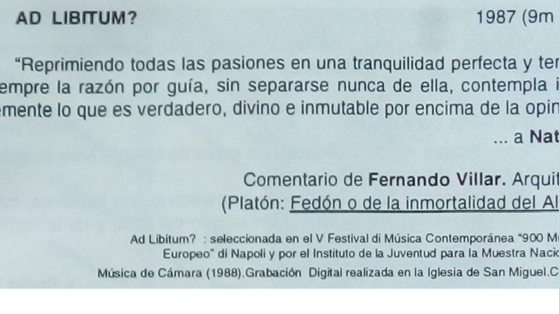 Ad Libitum de Julio Sanz Vázquez