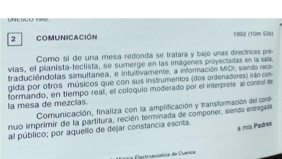 Comunicación de Julio Sanz Vázquez