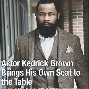 Actor Kedrick Brown Brings His Own Seat to the Table