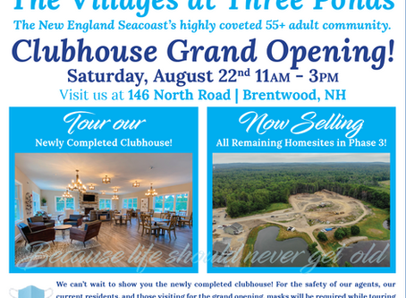 Clubhouse Grand Opening - August 22nd