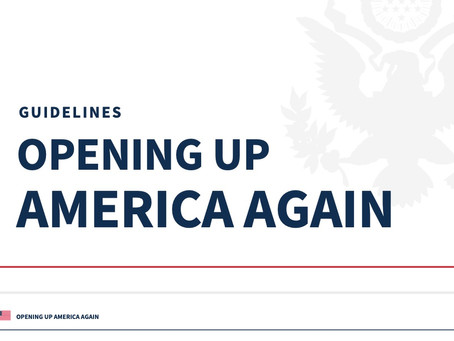 Guidelines for Reopening America