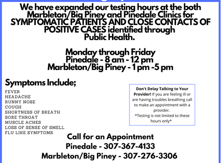 Testing Expands, Plus Free Tests for Youth