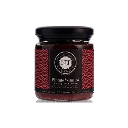 Chutney Pimento Vermelho, Morango, Cardamomo Nobre Terra 250g