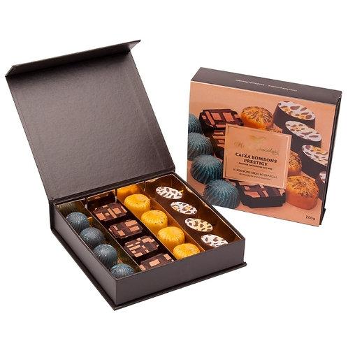 Bombons Chocolate Artesanal Maria Chocolate Caixa 16 Prestige 200g