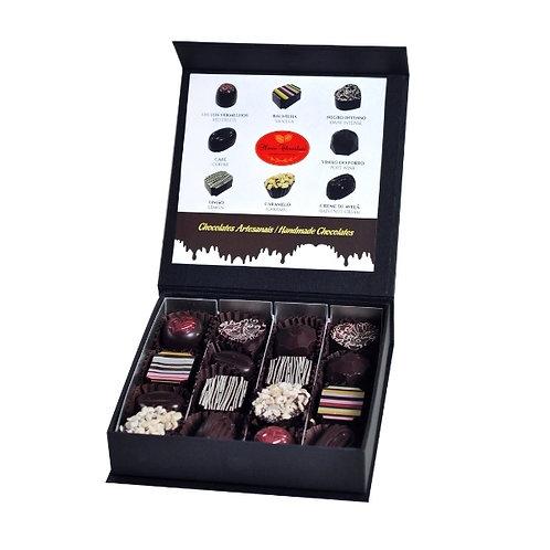 Bombons Chocolate Negro Artesanal Caixa 16 Prestige 200g