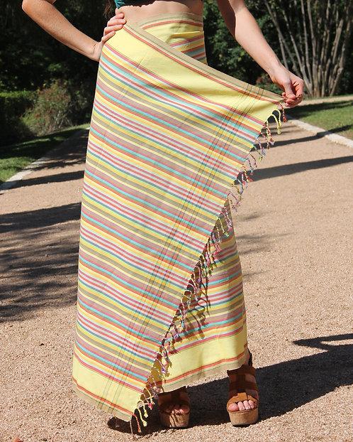 Yellow Multistripe Kikoy
