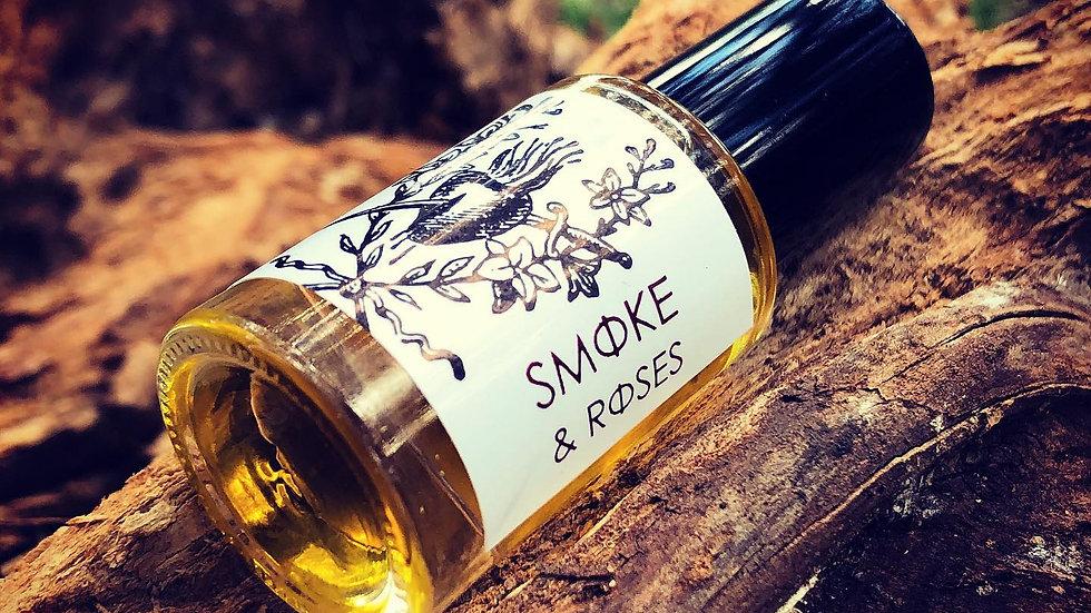S M O K E + R O S E S // roses - tobacco - peru balsam - vetiver