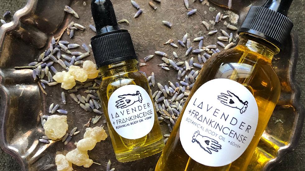 Lavender + Frankincense Organic Bath + Body Oil