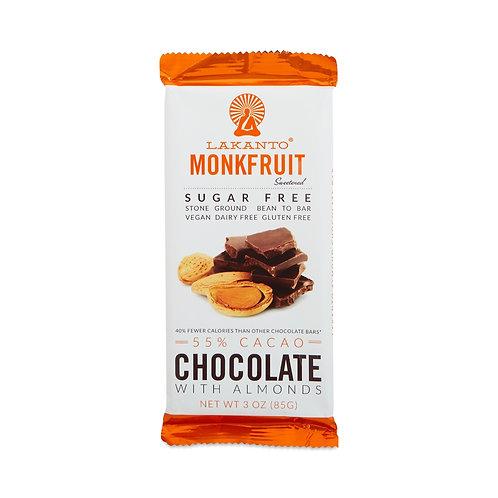 Lakanto Monkfruit Sweetened Chocolate Bar - 55 Cocoa