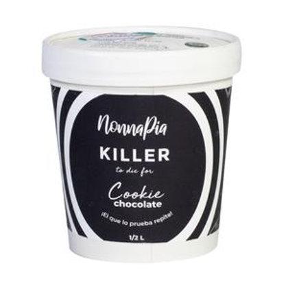 Helado Keto Killer Fuds Brownie - Galleta 1/2 Litro