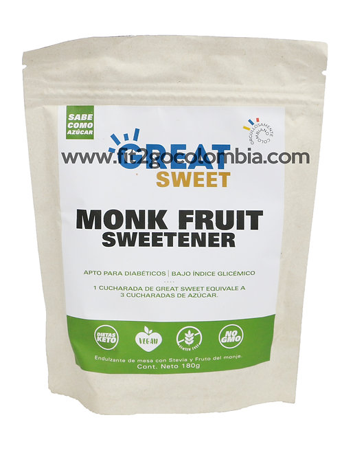 Monk Fruit 180 g Great Nutrition