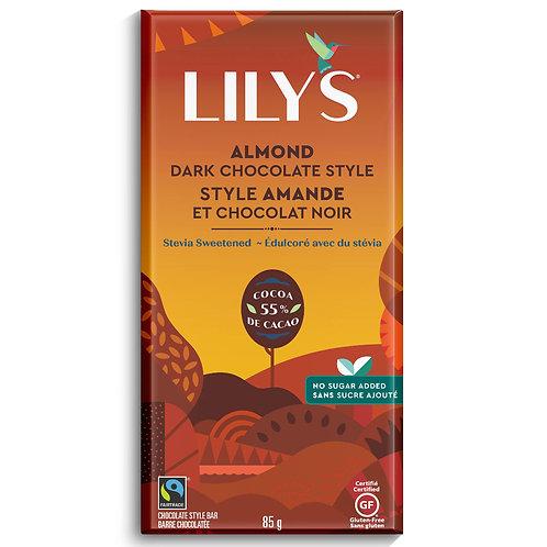 Lily's Chocolate Endulzado con Stevia con Almendra