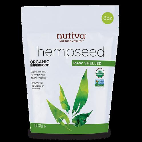 Hemp Seeds Semillas Cañamo Nutiva 8 oz