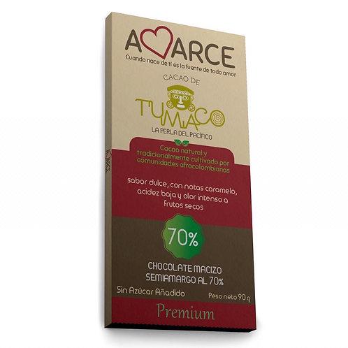 Chocolate Amarce 70% sin azúcar