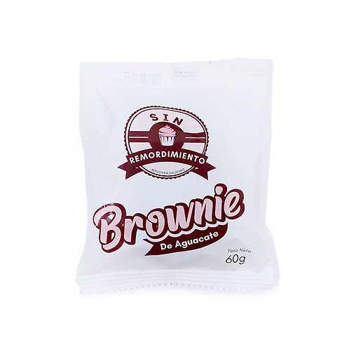 Brownie de aguacate sin remordimientos