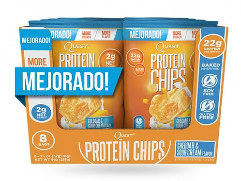 Quest Chips- Chips Proteína Caja x 8 Unidades