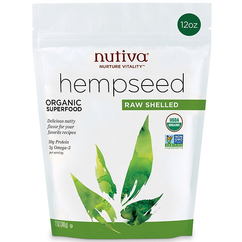 Hemp Seeds Semillas Cañamo Nutiva 8 oz